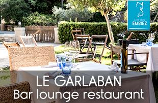 Le Garlaban bar lounge restaurant sur l'île des Embiez