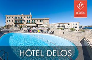 Hotel Delos 4 étoiles sur Ile de Bendor à Bandol