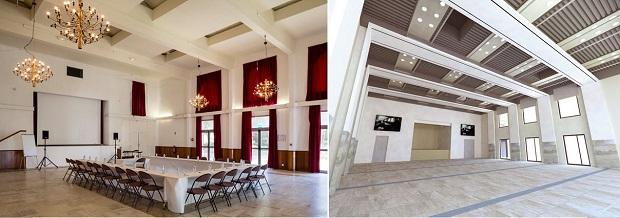Avant/après (maquette) de l'intérieur de la salle Marcel Pagnol
