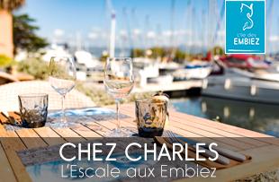 Restaurant Chez Charles sur l'île des embiez