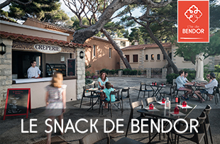 Le snack de Bendor : sandwichs, boissons rafraîchissantes, glaces et sorbets
