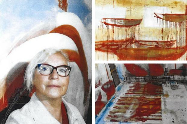 Anna Baranek, artiste peintre du 9ème Symposium de peinture Paul Ricard
