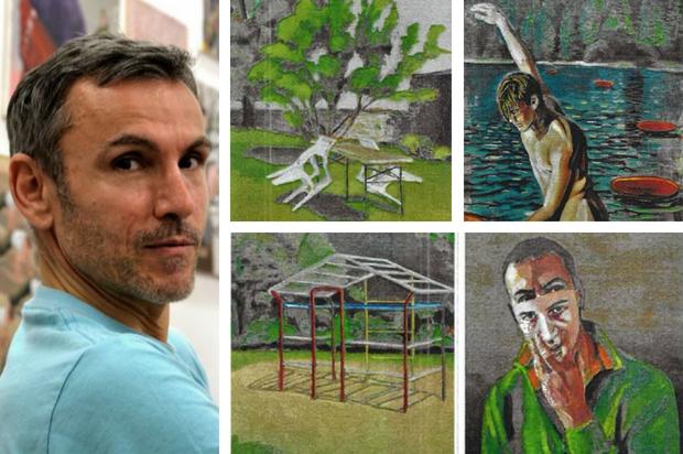 Eric Kaiser, artiste peintre du 9ème Symposium de peinture Paul Ricard