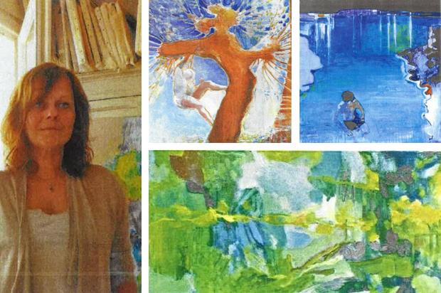 Marie-Elisabeth Merlin, artiste peintre du 9ème Symposium de peinture Paul Ricard