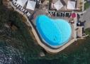 Vue aérienne de l'hôtel Delos sur l'île de Bendor