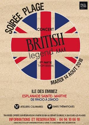 concert de British Legend pour soiree Plage sur Les Embiez