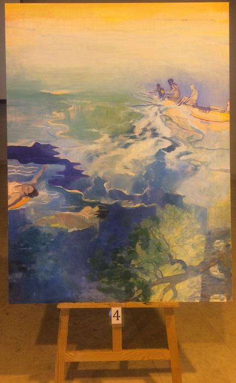 Tableau de Marie Elisabeth Merlin pour le 9ème Symposium International de peinture Paul Ricard