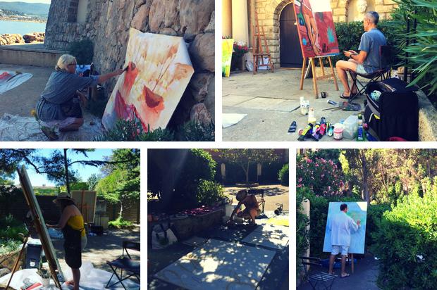 les artistes du 9ème symposium international de peinture paul Ricard