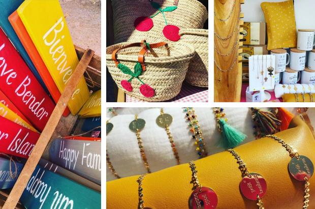 Boutique Les Fées mer sur l'île de Bendor : textiles, bijoux, déco et accessoires made in france