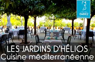 Les Jardins d'Hélios restaurant de l'hôtel Hélios ouvert en été