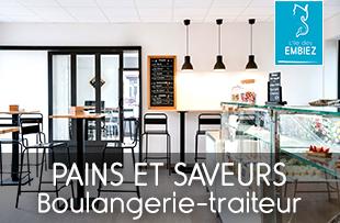 Pains et Saveurs boulangerie et traiteur ouvert d'avril à octobre aux Embiez