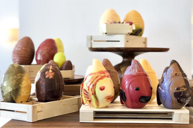 Créations en chocolat de notre Chef sur l'île des Embiez