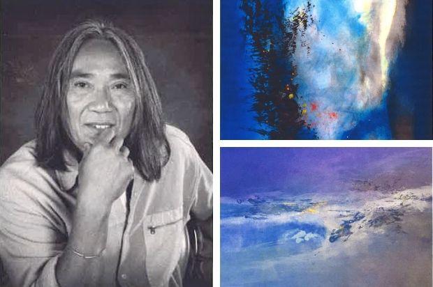 Eban, peintre candidate au Symposum de peinture Paul Ricard