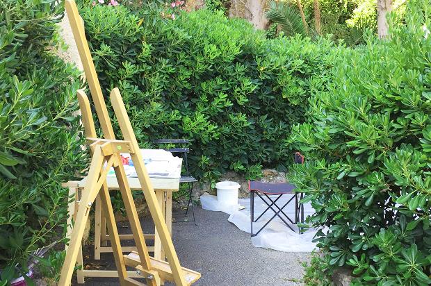 Symposium International de peinture Paul Ricard sur l'île de Bendor