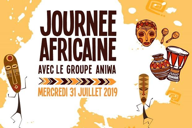animation journée africaine sur l'île des Embiez 31 juillet 2019