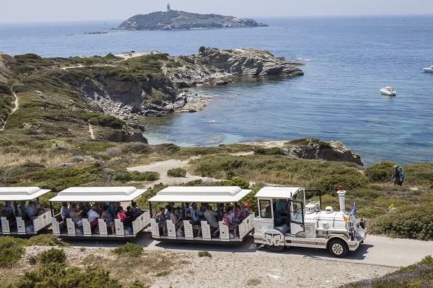 Tour de l'île des Embiez en petit train