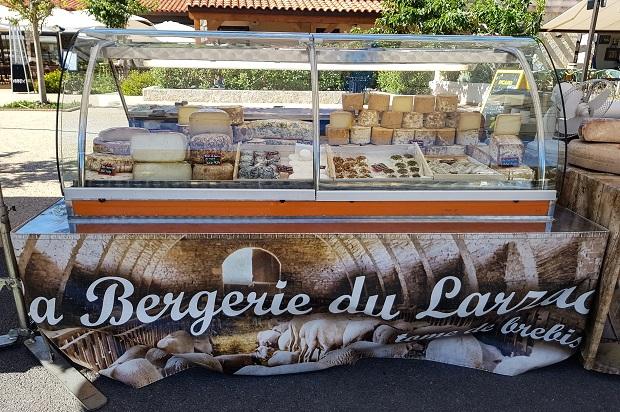 marché paysan des embiez du fromage du larzac