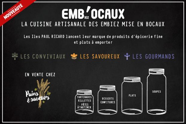 Emb'ocaux nouvelle marque restauration sur l'île des Embiez